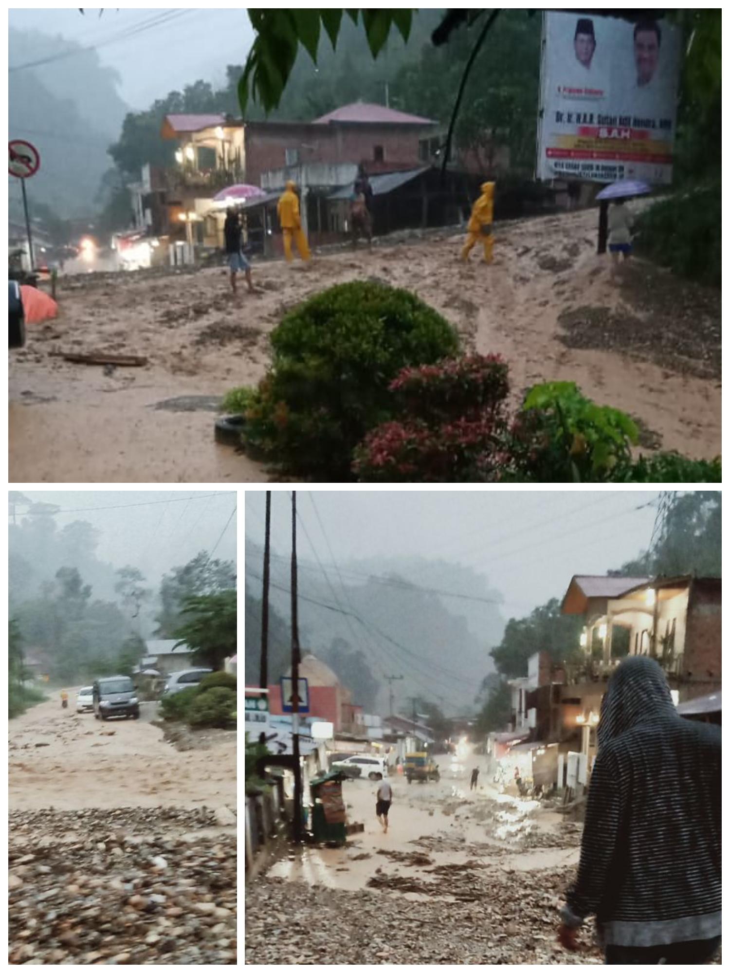 Muara Emat di Terjang Banjir Bandang Dahsyat